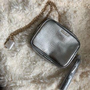 NEW Victoria's Secret Small Silver Crossbody Bag